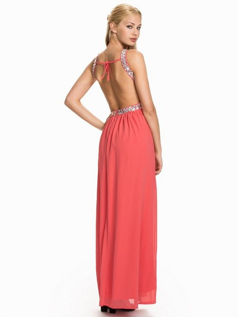 Te Amo Keyhole Jeweled Open Back Maxi Dress Maxiklänningar Watermelon thumbnail