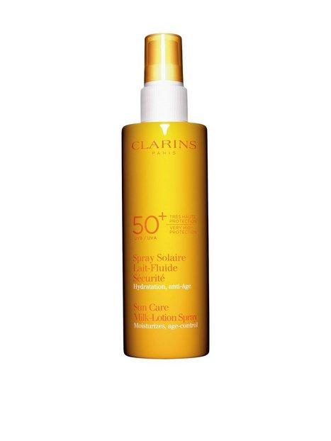 Billede af Clarins Sun Milk-Lotion Spray Uvb 50 150ml Solfaktor Hvid