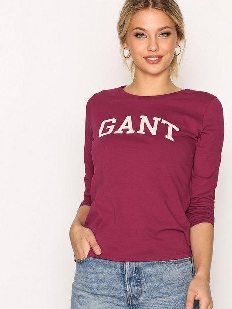 Billede af GANT Gant Logo T-Shirt LS Toppe Raspberry