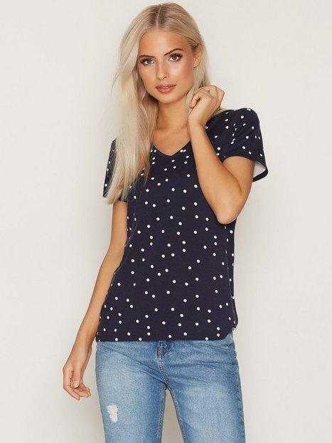 Billede af GANT Dotted V-Neck T-Shirt T-shirt Blue