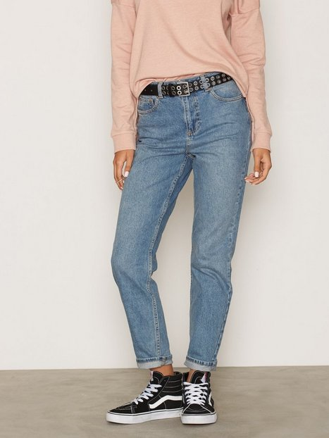 Billede af Miss Selfridge Wash Mom Jeans Straight Mid Blue