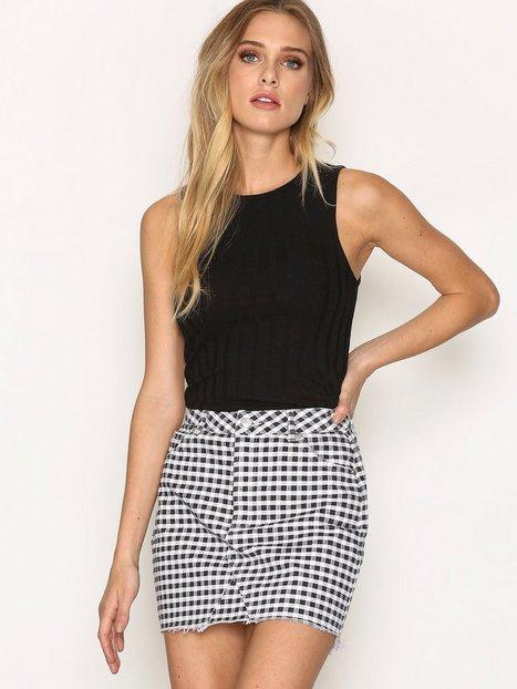 MOTO Gingham Mini Skirt