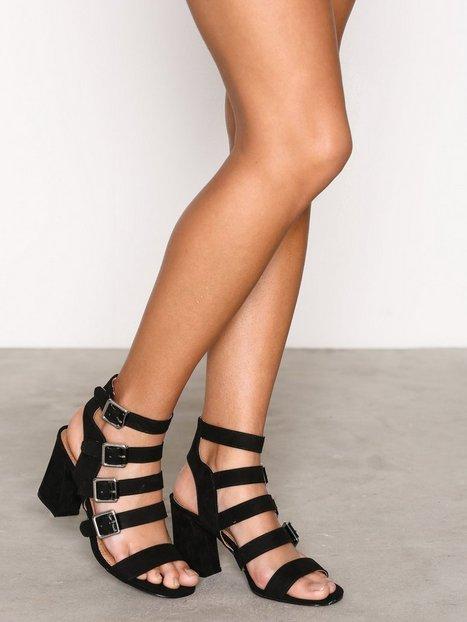 Billede af Topshop Multi Buckle Sandals Heels Black