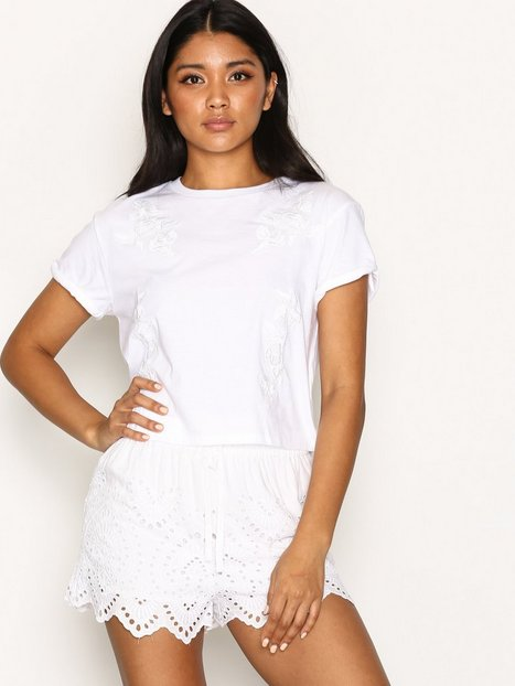 Topshop Cutwork Broderie Shorts Shorts White thumbnail