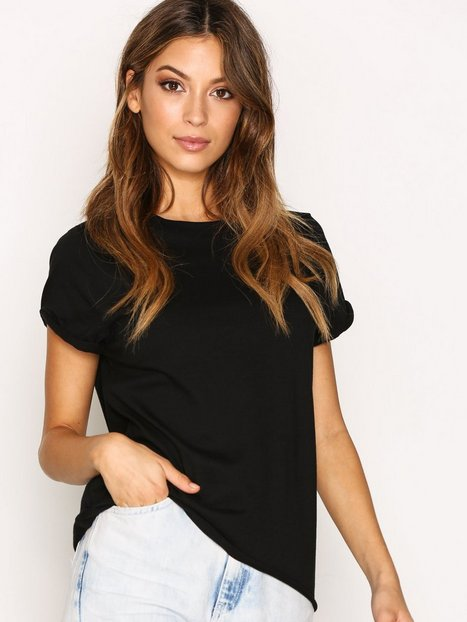 Topshop Roll Back Tee T-shirts Black thumbnail