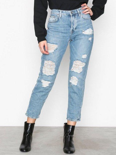Billede af Topshop Super Ripped Hayden Boyfriend Jeans Loose fit Bleach Acid Wash