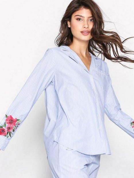 Topshop Embroidered Night Shirt Pyjamat & Oloasut Blue thumbnail