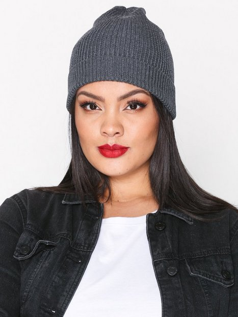 Topshop Ribbed Slouch Beanie Mössor Charcoal thumbnail