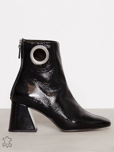 Topshop Malone Ankle Boots Heel Black thumbnail