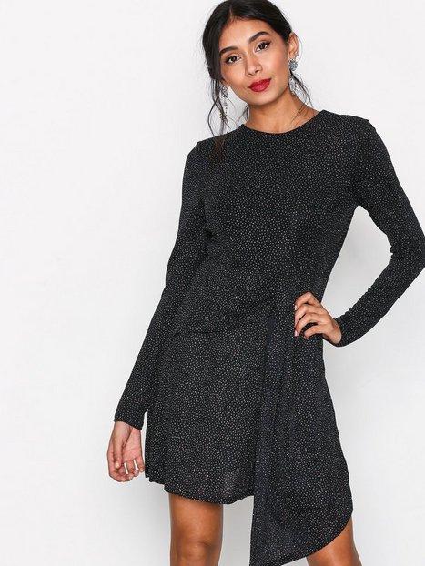 Billede af Topshop Asymmetrical Glitter Dres Kropsnære kjoler Black