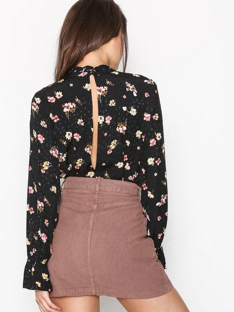 Cord Zip Denim Mini Skirt