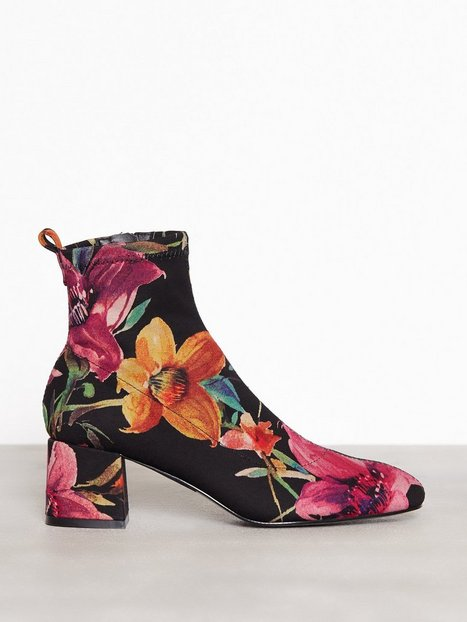 Topshop Buttercup Sock Boots Low Heel Multi thumbnail