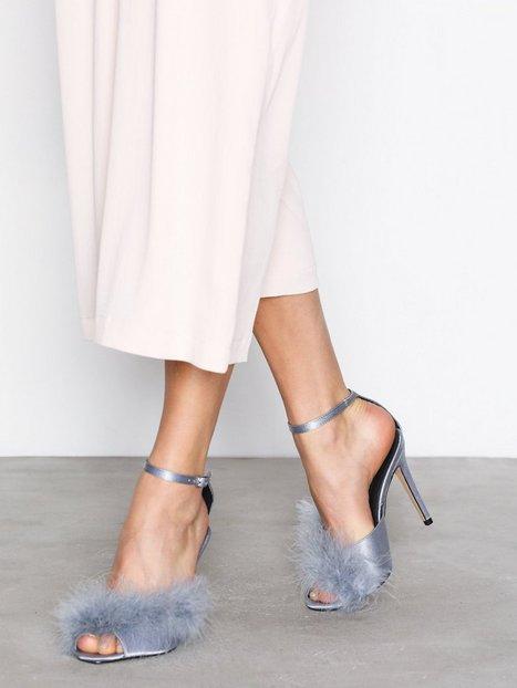 Billede af Topshop Asymmetric Feather Sandal High Heel Blue