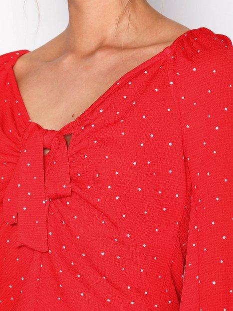 Polka Dot Tie Front T-Shirt