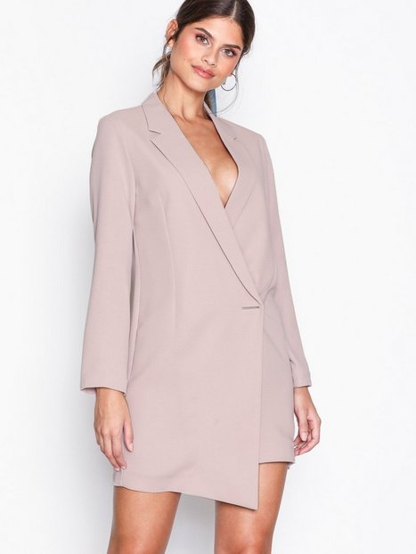 Billede af Topshop Asymmetric Hem Blazer Dress Loose fit Pink