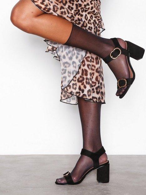 Topshop Samba Two Part Sandals Low Heel Black