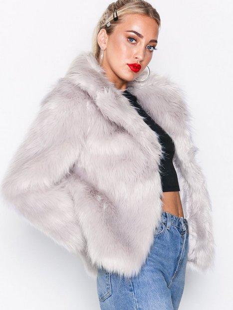 Billede af Topshop Faux Fur Coat Faux Fur Light Grey
