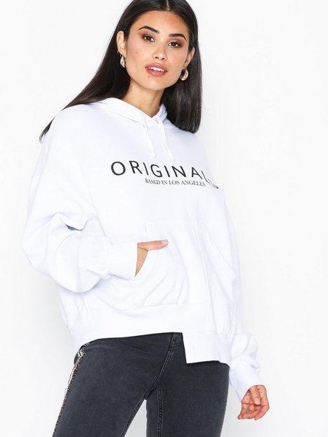 Billede af Topshop 'Originals' Logo Hoodie Hættetrøjer White