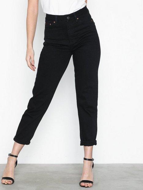 Billede af Topshop Black Mom Jeans Straight fit