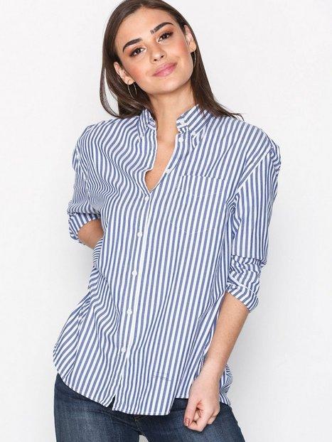 Billede af GANT R1. Archive Oxford Bold Stripe Skjorter Ocean
