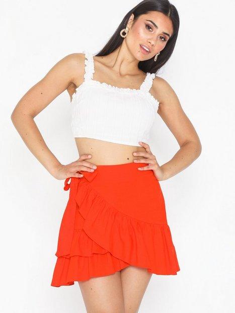 e354aaf0f74 Billede af Topshop Linen Rich Wrap Mini Skirt Mini nederdele