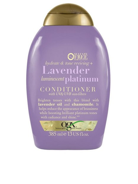 OGX Lavender Platinum Conditioner 385ml Balsam - OGX