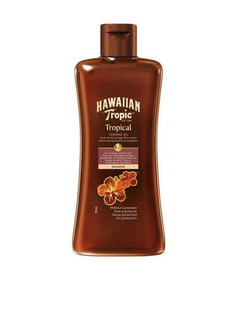 Billede af Hawaiian Tropic Tropical Tanning Oil Dark 200 ml Sololie Transparent