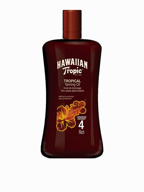 Billede af Hawaiian Tropic Tropical Tanning Oil Rich 200 ml Sololie Transparent