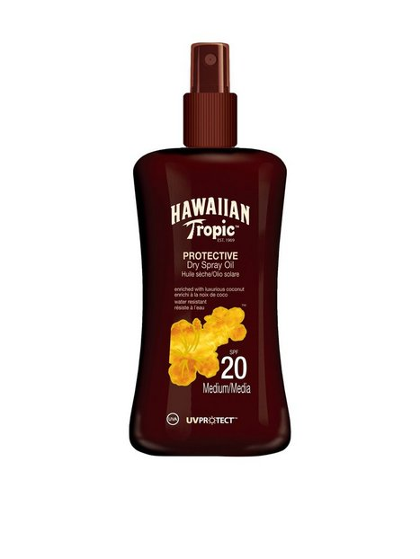 Billede af Hawaiian Tropic Protective Dry Spray Oil SPF 20 200 ml Sololie Transparent