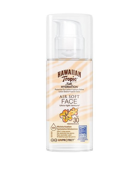 Billede af Hawaiian Tropic Silk Hydration Air Soft Face Sun Lotion SPF 30 50 ml Solfaktor Hvid