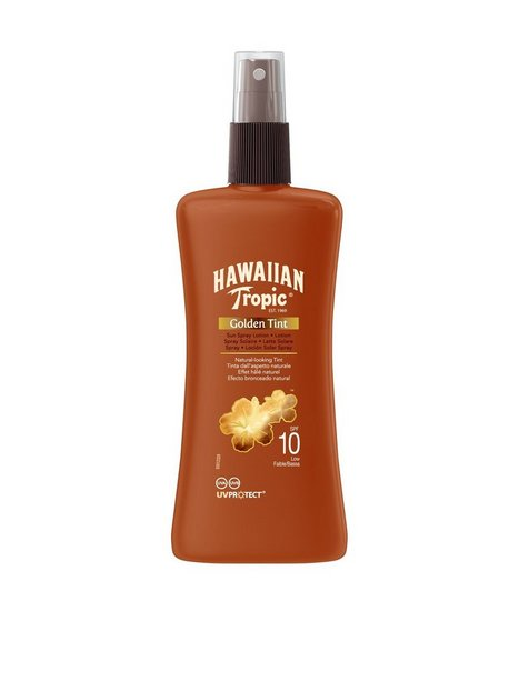 Billede af Hawaiian Tropic Golden Tint Sun Spray Lotion SPF 10 200 ml Solfaktor Brun