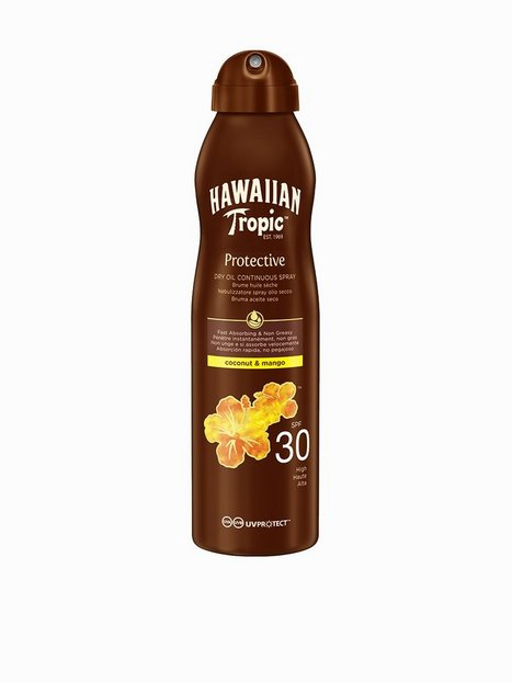 Billede af Hawaiian Tropic Protective Dry Oil Spray SPF 30 Coco & Mango 180 ml Solfaktor Hvid