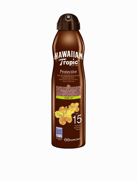 Billede af Hawaiian Tropic Protective Dry Argan Oil Spray SPF 15 180 ml Solfaktor Transparent