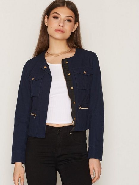 Billede af NLY Trend Short Detailed Jacket Blazer Mørkeblå