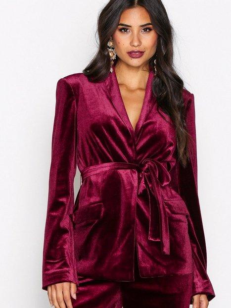 Billede af NLY Trend Have It All Velvet Blazer Blazer Burgundy