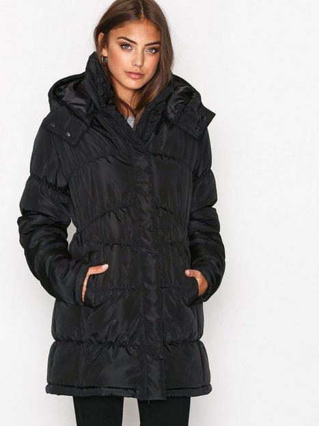 NLY Trend Shaped Puffer Jacket Parkatakit Musta thumbnail