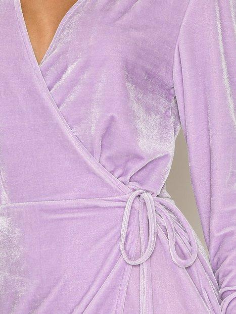 Fancy Velvet Wrap Dress