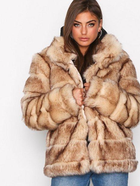 Billede af NLY Trend Puffy Fur Coat Faux Fur Beige