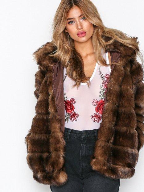 Billede af NLY Trend Puffy Fur Coat Faux Fur Brun