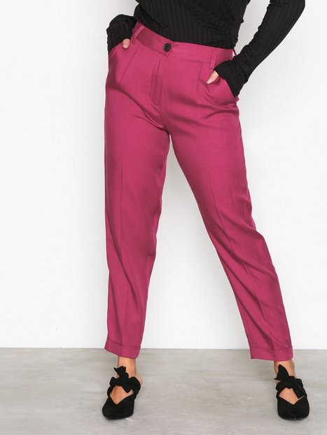 NLY Trend Dressed Up Pants Housut Fuchsia thumbnail