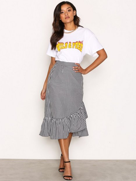 Frill Check Skirt