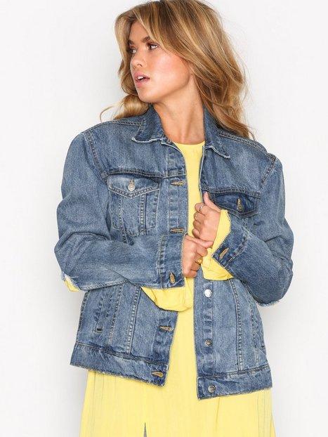 NLY Trend Flawless Denim Jacket Farkkutakit Tummansininen thumbnail
