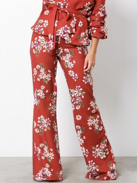 NLY Trend Flared Lounge Pants Housut Print thumbnail