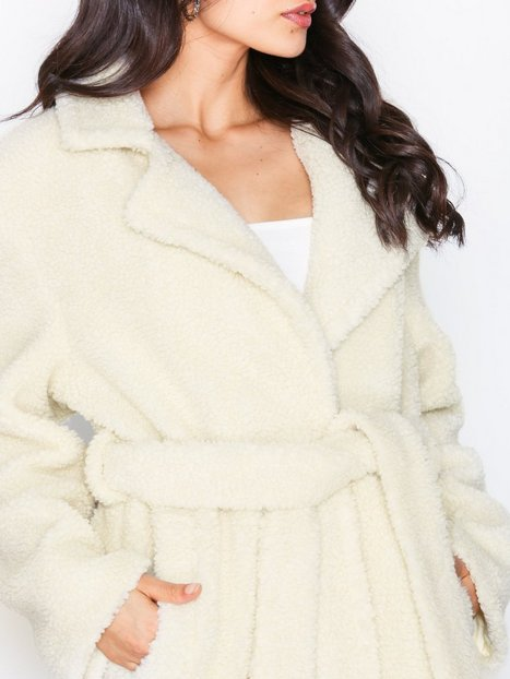 Tie Waist Teddy Coat