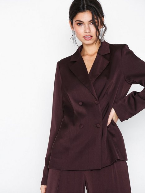 NLY Trend Perfect Satin Blazer Blazere Wine