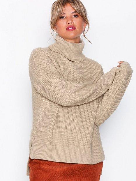 Billede af NLY Trend Rib Knit Sweater Trøjer Beige
