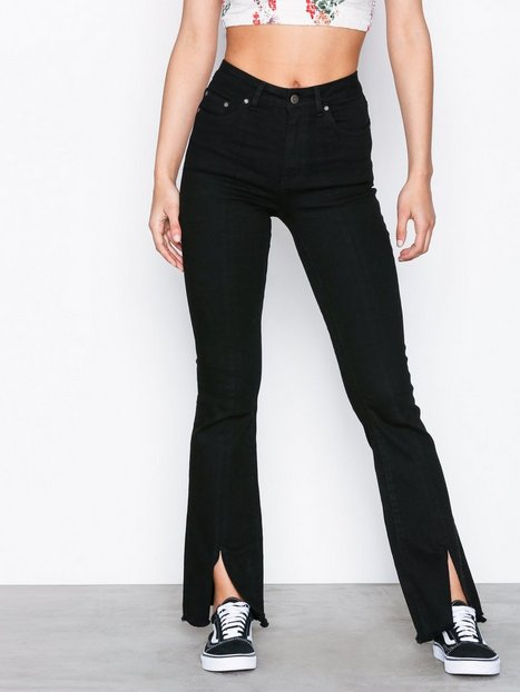 NLY Trend Superstretch Bootcut Split Denim Bootcut & Flare Musta thumbnail