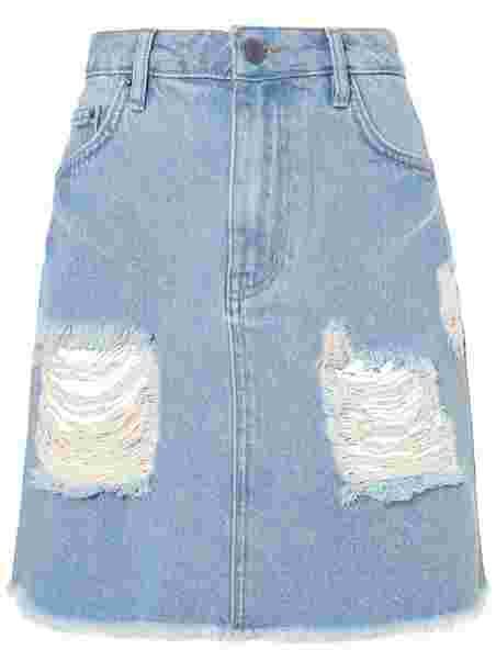 a1673aad Destroy Mini Denim Skirt - Nly Trend - Light Blue Denim - Skjørt ...