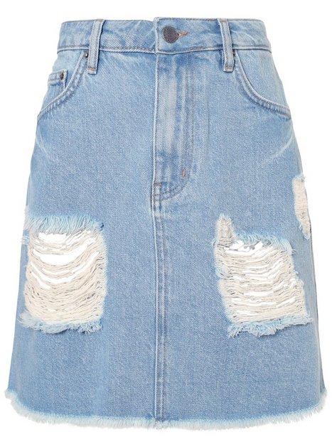 Destroy Mini Denim Skirt