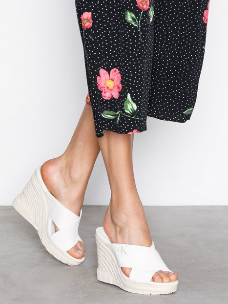 Billede af Calvin Klein Jeans Layla Canvas Wedge Offwhite